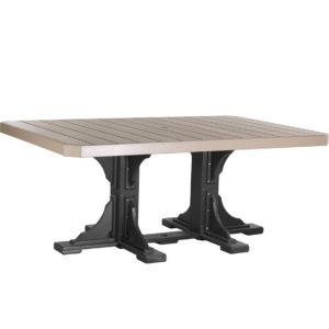 4x6 ft rectangular table weatherwood black