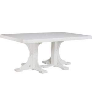4x6 ft rectangular table white