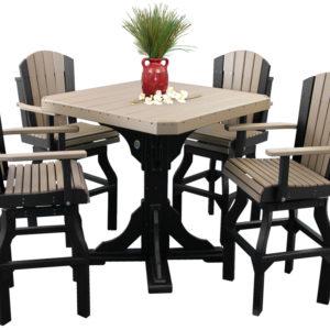 adirondack bar table set weatherwood black