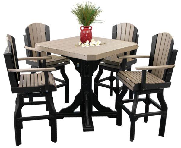 poly dining set