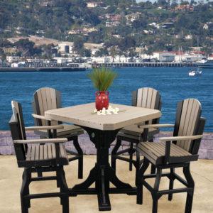 poly adirondack bar table set