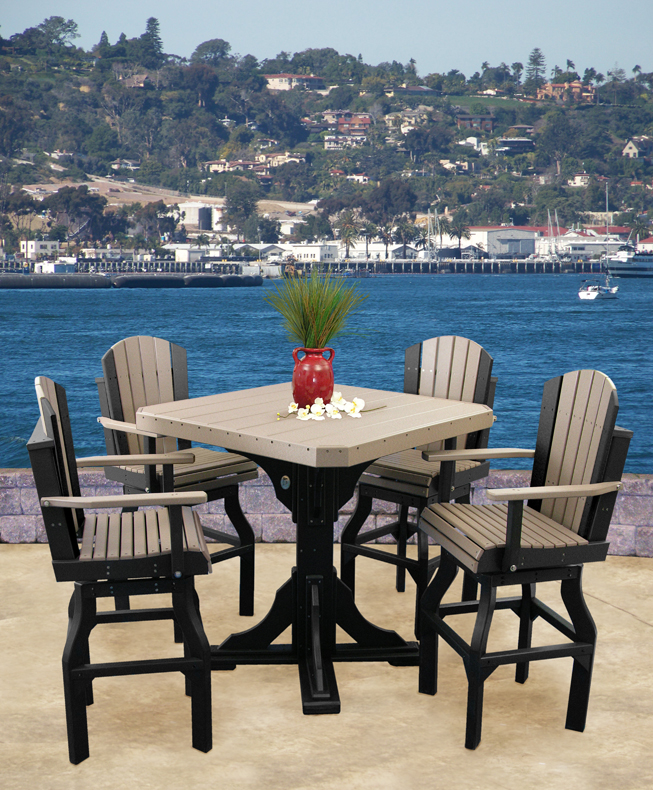 poly dining set