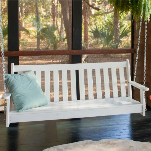 plastic porch swing cost