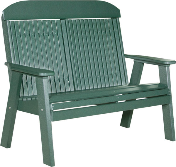 4 ft classic bench green