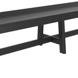 cafe bench 72 black