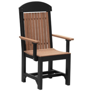 captain chair antique mahogany black