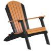 luxcraft poly folding adirondack chair tangerine black