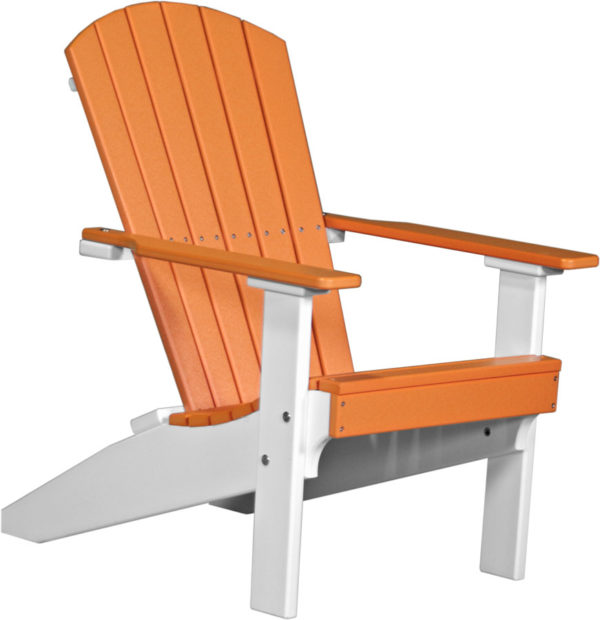 lakeside adirondack chair tangerine white
