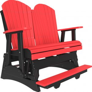 4' adirondack balcony glider red:black