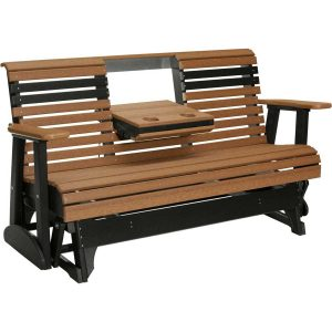 plain glider antique mahogany black