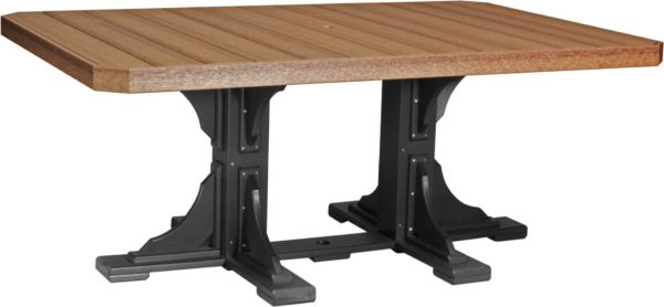 4x6 ft rectangular table antique mahogany black