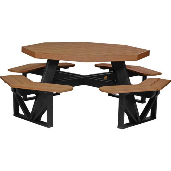 octagon picnic table antique mahogany black